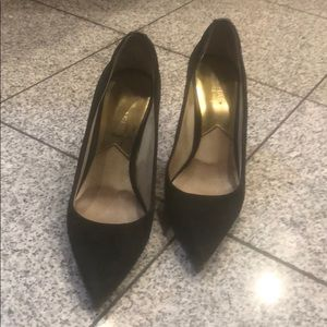 "Michael Kors black suede 3.5"" heels, 8"